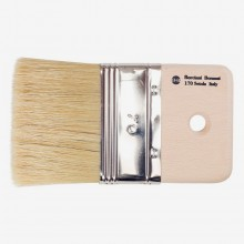 Borciani e Bonazzi : Mottler Brush : 10 mm Depth : Medium-Length White Bristle