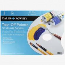 Daler Rowney : Blue Tear Off Palettes - For Oil & Acrylic
