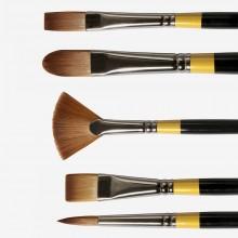 Daler Rowney : System 3 Acrylic Brushes : Long Handles