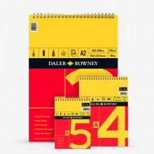 Daler Rowney : Spiral Cartridge Pads : 150gsm : 25 Sheets