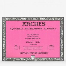Arches : Aquarelle : Block : 24x18in : 20 Sheets : Glued : Hot Pressed