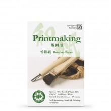 Awagami Washi : Japanese Paper : Bamboo Postcard Pad : 10x15cm : 15 Sheets