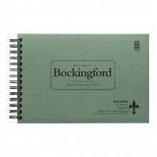 Bockingford : Spiral Fat Pad : 140lb : 300gsm : 7.5x11in : 25 Sheets : Rough