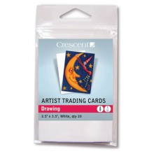Crescent Artist Trading Cards : Drawing White : 2.5x3.5 inch : Pack 20
