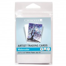 Crescent Artist Trading Cards : Watercolour Paint : White : 2.5x3.5Inch : Pack 20