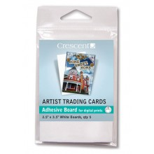 Crescent : Artist Trading Cards : Perfect Mount : White Self-Adhesive Board : 2.5x3.5in : Pack 5