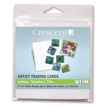 Crescent : Artist Trading Cards : (TW)inies Thin White : 4 x4in : Pack 2