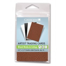 Crescent Artist Trading Cards : Texture Assorted Colours/Double Sided : 2.5x3.5 inch : Pack 10