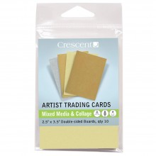 Crescent Artist Trading Cards : Mixed Media Metallic Assorted : 2.5x3.5 inch : Pack 10