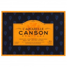 Canson : Heritage : Watercolour Paper Block : 300gsm : 18x26cm : 20 Sheets : Cold Pressed