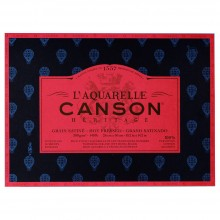 Canson : Heritage : Watercolour Paper Block : 300gsm : 26x36cm : 20 Sheets : Hot Pressed