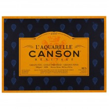 Canson : Heritage : Watercolour Paper Block : 300gsm : 26x36cm : 20 Sheets : Cold Pressed