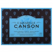Canson : Heritage : Watercolour Paper Block : 300gsm : 26x36cm : 20 Sheets : Rough