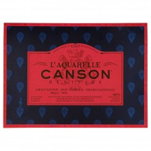 Canson : Heritage : Watercolour Paper Block : 300gsm : 31x41cm : 20 Sheets : Hot Pressed