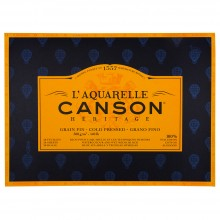 Canson : Heritage : Watercolour Paper Block : 300gsm : 31x41cm : 20 Sheets : Cold Pressed