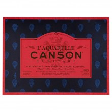 Canson : Heritage : Watercolour Paper Block : 300gsm : 36x51cm : 20 Sheets : Hot Pressed