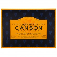 Canson : Heritage : Watercolour Paper Block : 300gsm : 46x61cm : 20 Sheets : Cold Pressed