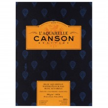 Canson : Heritage : Watercolour Paper Pad : 300gsm : 23x31cm : 12 Sheets : Cold Pressed