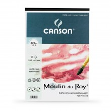 Canson : Moulin du Roy : Watercolour Paper Pad : A3 : 300gsm : 10 Sheets : Hot Pressed