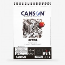Canson : The Wall : Marker Paper Pad : A4+ : 220gsm : 30 Sheets