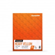 Clearprint : Heavy Vellum : Paper : 11x14in : 48lb (180gsm) : 25 Sheets