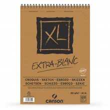 Canson : XL : Croquis : Extra White : Spiral Pad : 90gsm : 120 Sheets : A3
