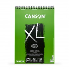 Canson : XL : Drawing : Spiral Pad : 160gsm : 50 Sheets : A3