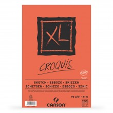 Canson : XL : Croquis : Glued Pad : 90gsm : 100 Sheets : A3