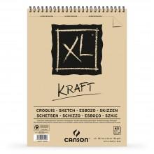 Canson : XL : Kraft : Spiral Pad : 90gsm : 60 Sheets : A3