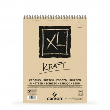 Canson : XL : Kraft : Spiral Pad : 90gsm : 60 Sheets : A4