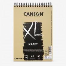 Canson : XL : Kraft : Spiral Pad : 90gsm : 40 Sheets : A5