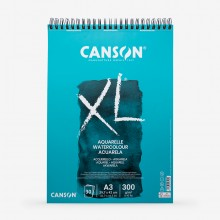 Canson : XL : Watercolour : Spiral Pad : 300gsm : 30 Sheets : A3 : Cold Pressed