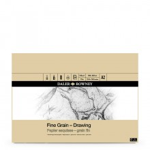 Daler Rowney : Fine Grain Drawing Pad : Cartridge Paper : 120gsm : A2