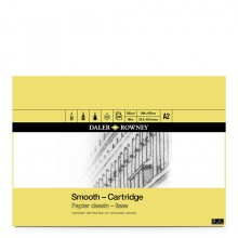 Daler Rowney : Smooth Cartridge Pad : 130gsm : 30 Sheets : Acid Free : A2