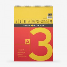 Daler Rowney : Cartridge Pad : Spiral : 150gsm : 25 Sheets : A3