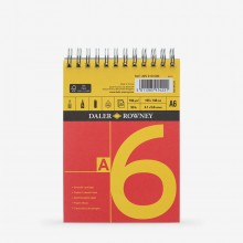 Daler Rowney : Cartridge Pad : Spiral : 150gsm : 25 Sheets : A6