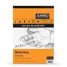 Daler Rowney : Arteco : Sketching Pad : Jumbo : 120 Sheets : A4