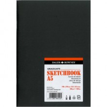 Daler Rowney : Graduate Stapled Softcover Sketchbook : 140gsm : 20 Sheets : A5