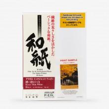 Awagami Washi : Kozo Thin White : Inkjet Paper : 70gsm : 20 Sheets : A4