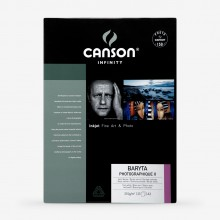Canson : Infinity : Baryta Photographique : Inkjet Paper : 310gsm : 25 Sheets : A3