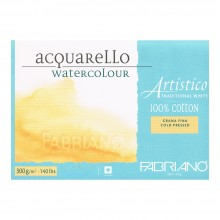 Fabriano : Artistico : Block : 140lb : 18x24in : 10 Sheets : Traditional : Not