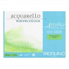 Fabriano : Artistico : Block : 140lb : 9x12in : 20 Sheets : Traditional : Rough