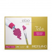 Fabriano : Tela : Oil Painting Paper : Block : 300gsm : 10 Sheets : 16.5x22in