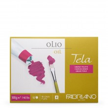 Fabriano : Tela : Oil Painting Paper : Block : 300gsm : 10 Sheets : 7x9.5in
