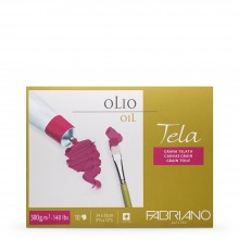 Fabriano : Tela : Oil Painting Paper : Block : 300gsm : 10 Sheets : 9.5x12.5in