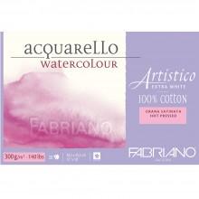 Fabriano : Artistico : Block : 12x18in : 20 Sheets : Extra White : HP
