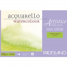 Fabriano : Artistico : Block : 140lb : 14x20in : 15 Sheets : Extra White : Rough
