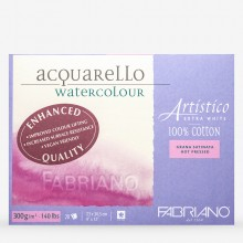 Fabriano : Artistico : Block : 9x12in : 20 Sheets : Extra White : HP