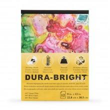 Grafix : Dura Bright : 0.010in : Opaque White : 9x12in : Pad : 12 Sheets
