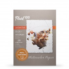 Global : Fluid 100 Easy Block : Watercolour Paper : 300gsm : 18x24in : Cold Pressed